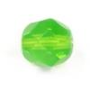 Fire/polished 8mm Green Opal Strung